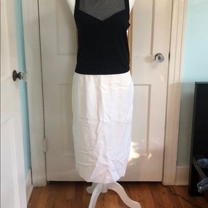 Vintage: Evan Picone White Pencil Skirt